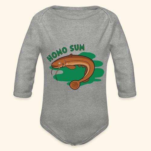 Homo sum ;) - Ekologiczne body niemowlęce z długim rękawem