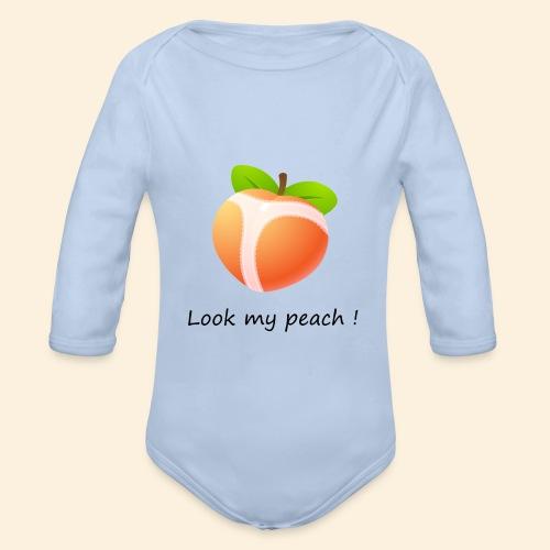 Look my peach - Body Bébé bio manches longues