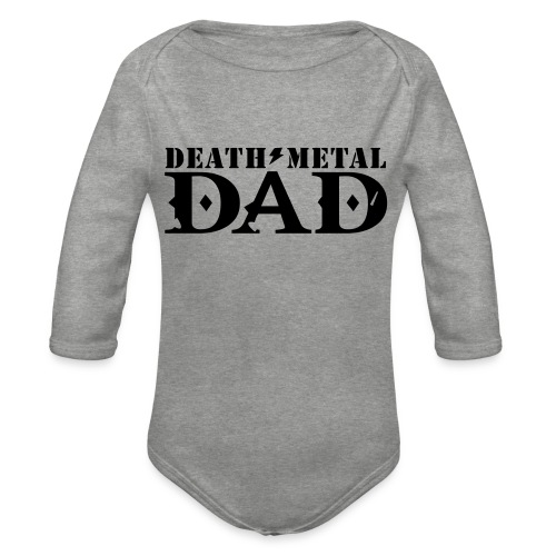 death metal dad - Baby bio-rompertje met lange mouwen