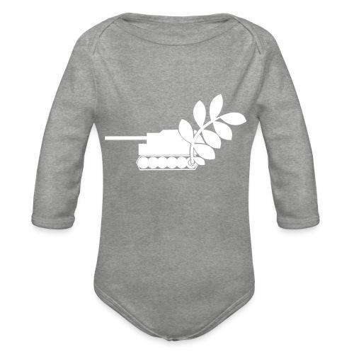 Global Campaign on Military Spending Logo v1 - Organic Longsleeve Baby Bodysuit