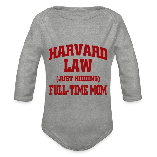 harvard law just kidding - Ekologiczne body niemowlęce z długim rękawem