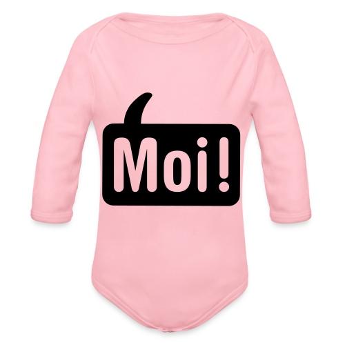 hoi shirt front - Baby bio-rompertje met lange mouwen