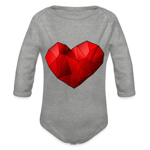 Heartart - Organic Longsleeve Baby Bodysuit