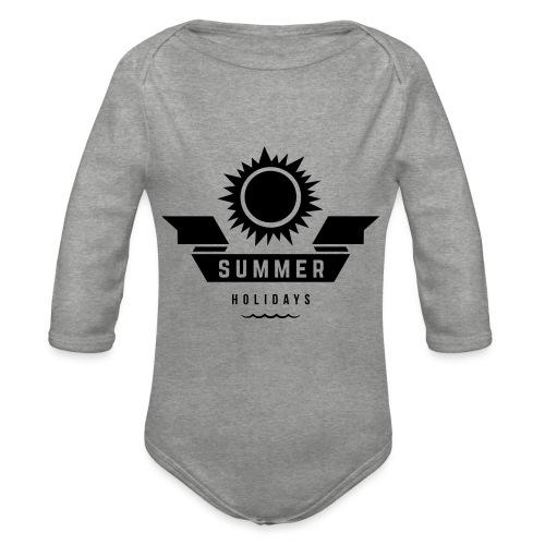 Summer holidays - Vauvan pitkähihainen luomu-body
