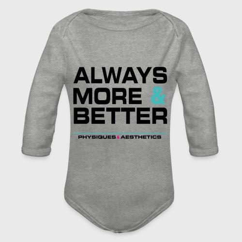 ALWAYS MORE AND BETTER - Body orgánico de manga larga para bebé