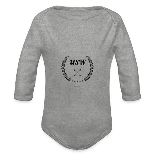 MSW logo - Organic Longsleeve Baby Bodysuit