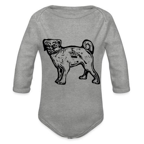 Pug Dog - Organic Longsleeve Baby Bodysuit