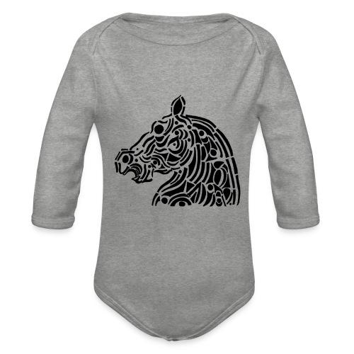 Horse - cheval tribal - Body Bébé bio manches longues