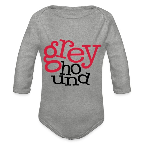 GrEyHoUnD - Body Bébé bio manches longues