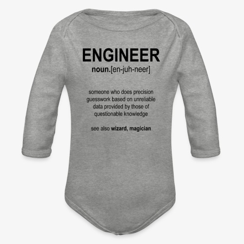 Engineer Def. 1 (Black) - Body Bébé bio manches longues