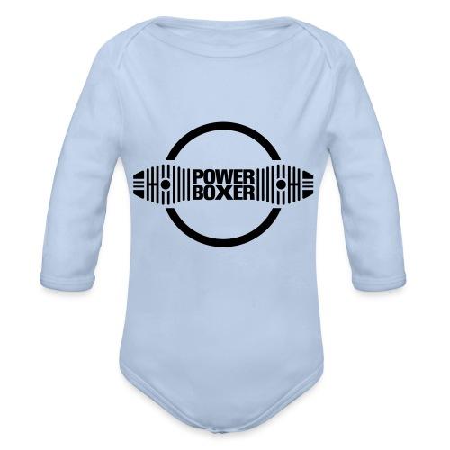 Motorrad Fahrer Shirt Powerboxer - Baby Bio-Langarm-Body