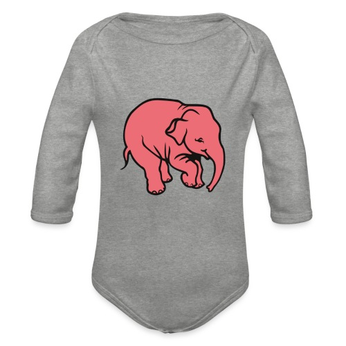 DT olifant - Baby bio-rompertje met lange mouwen