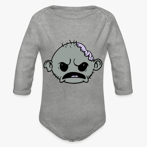 Zombob - Langærmet babybody, økologisk bomuld