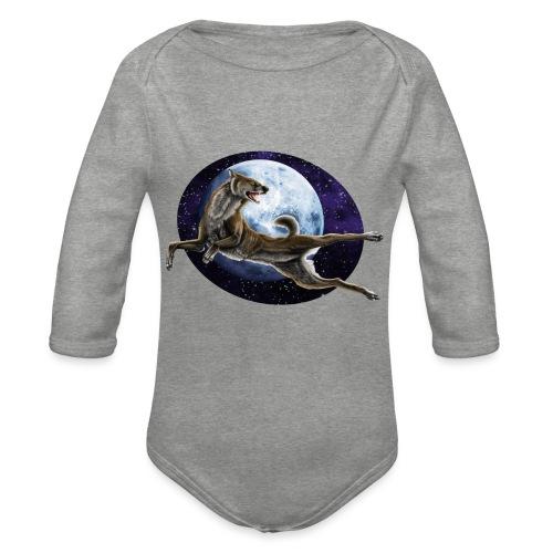 Galaxy Wolf - Baby Bio-Langarm-Body