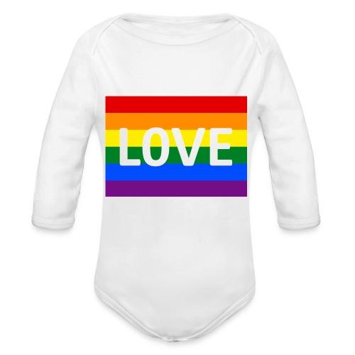 LOVE RETRO T-SHIRT - Langærmet babybody, økologisk bomuld