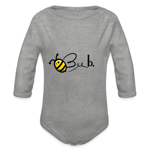 Bee b. Logo - Organic Longsleeve Baby Bodysuit