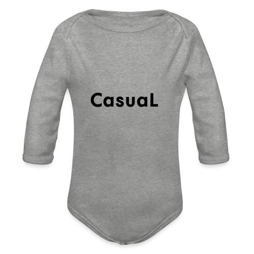 casual - Organic Longsleeve Baby Bodysuit