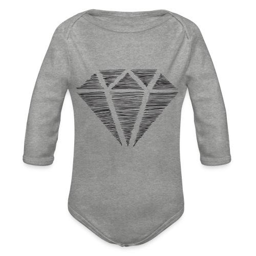 Diamante - Body orgánico de manga larga para bebé