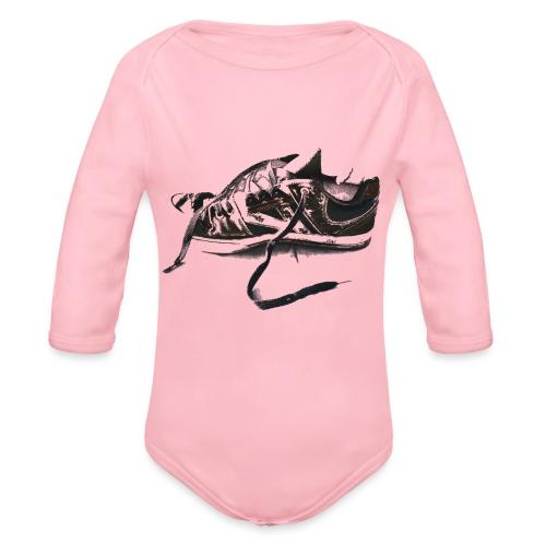 shoe (Saw) - Organic Longsleeve Baby Bodysuit
