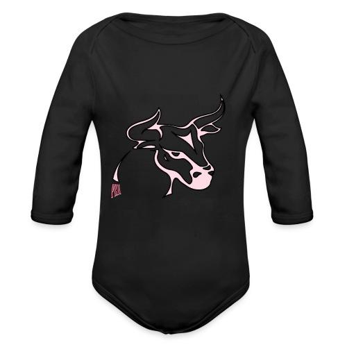 prm design taureau 2 - Body Bébé bio manches longues