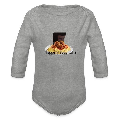Fagetty Spaghetti (impact) - Organic Longsleeve Baby Bodysuit