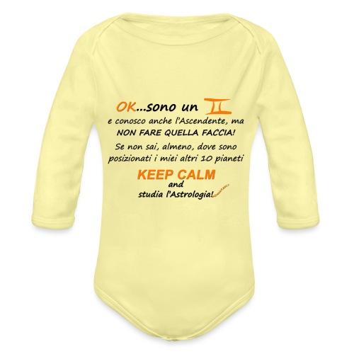 GEMELLI - Body ecologico per neonato a manica lunga
