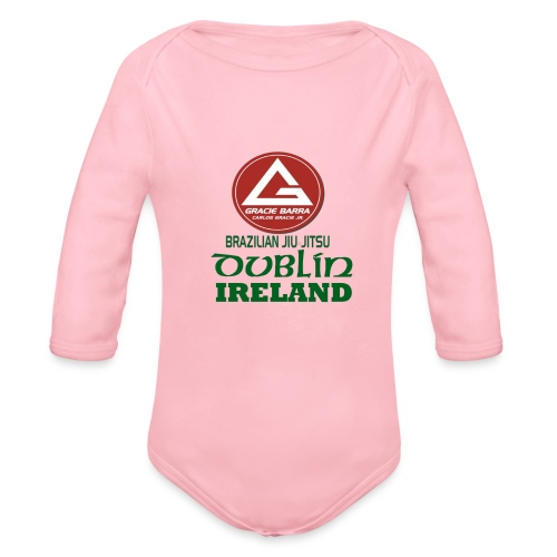 Gracie Barra Dublin Gaelic Celtic Font PNG - Organic Longsleeve Baby Bodysuit