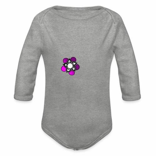 Flowerpower - Ekologisk långärmad babybody