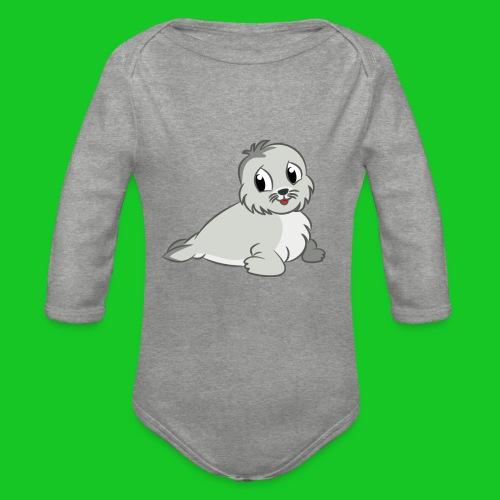 Zeehondje - Baby bio-rompertje met lange mouwen