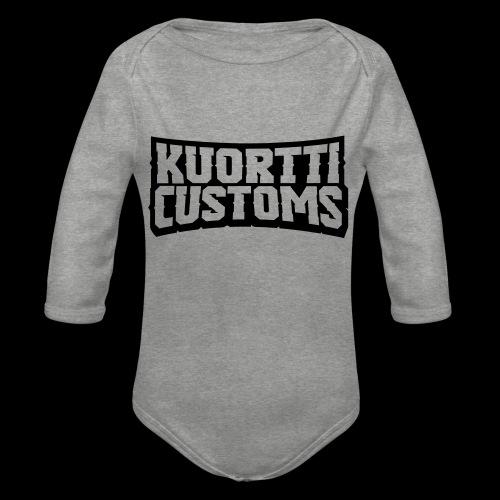 kuortti_customs_logo_main - Vauvan pitkähihainen luomu-body
