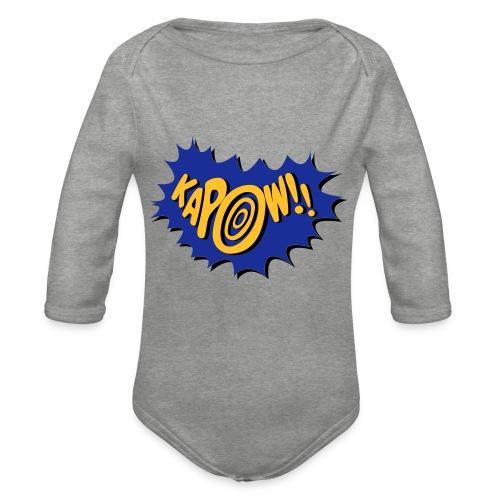 kapow - Organic Longsleeve Baby Bodysuit
