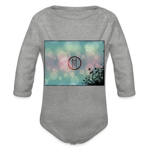 Llama Coin - Organic Longsleeve Baby Bodysuit