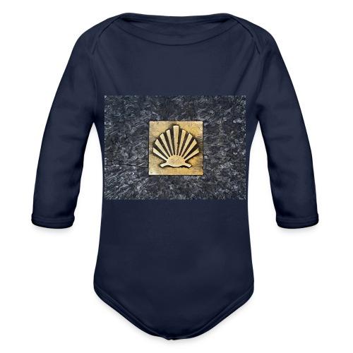 Scallop Shell Camino de Santiago - Organic Longsleeve Baby Bodysuit
