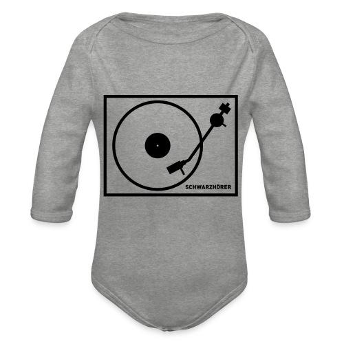 Schwarzhörer 2 Plattenspieler - Baby Bio-Langarm-Body