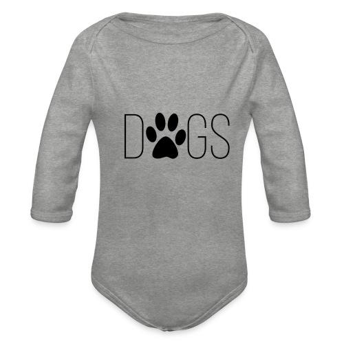 dogs - Baby bio-rompertje met lange mouwen
