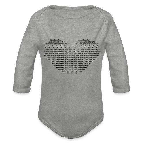 Isle of black Ascii Heart - Organic Longsleeve Baby Bodysuit