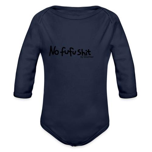 no fufu shit by brochner - Langærmet babybody, økologisk bomuld