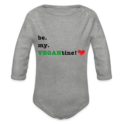 VEGANtine Green - Organic Longsleeve Baby Bodysuit