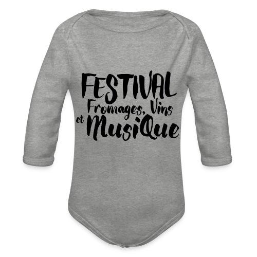 Festival Fromages, Vins et Musique - Body Bébé bio manches longues