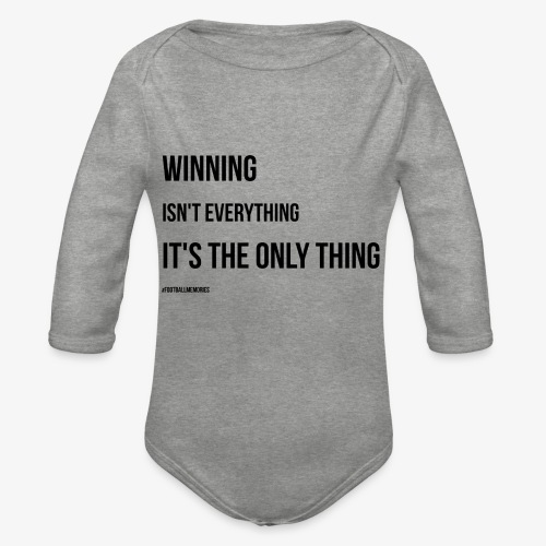 Football Victory Quotation - Organic Longsleeve Baby Bodysuit
