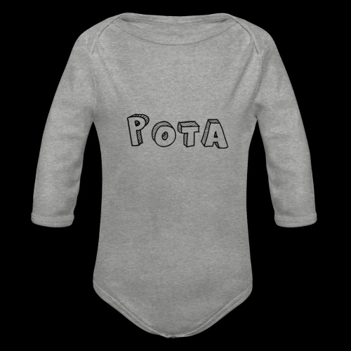 pota1 - Body ecologico per neonato a manica lunga