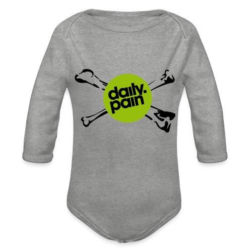 daily pain cho kark - Ekologiczne body niemowlęce z długim rękawem