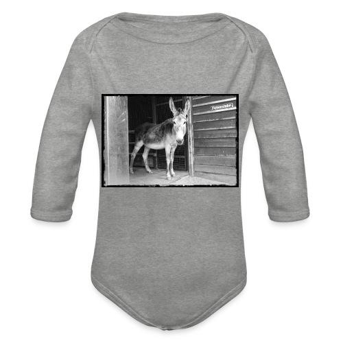 Zickenstube Esel - Baby Bio-Langarm-Body