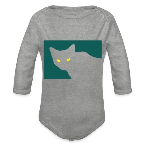 Spy Cat - Organic Longsleeve Baby Bodysuit