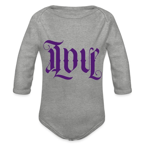 Love and hate - Organic Longsleeve Baby Bodysuit