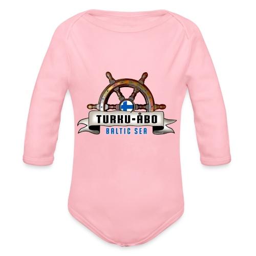 Turku Finland - Merelliset tekstiilit ja lahjat. - Vauvan pitkähihainen luomu-body