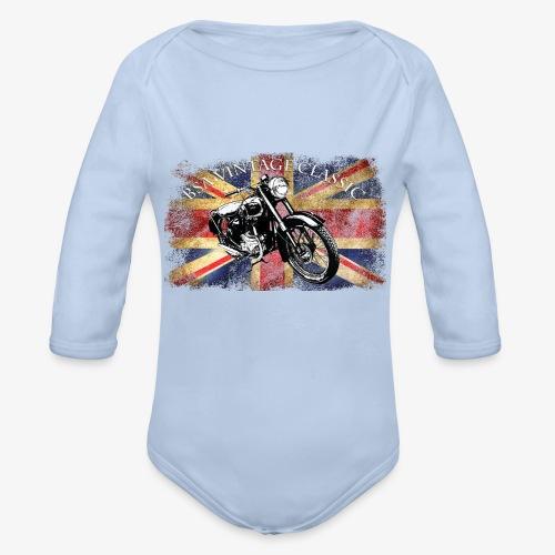 Vintage famous Brittish BSA motorcycle icon - Organic Longsleeve Baby Bodysuit