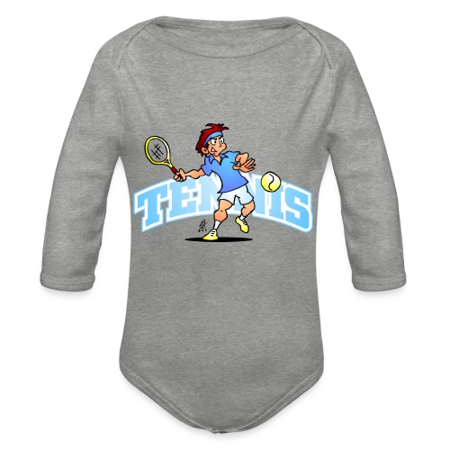 Tennis IV txt fc - Organic Longsleeve Baby Bodysuit