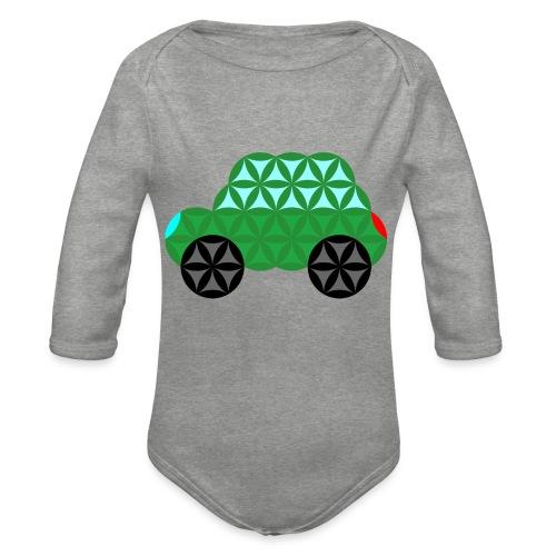 The Car Of Life - M02, Sacred Shapes, Green/363 - Organic Longsleeve Baby Bodysuit