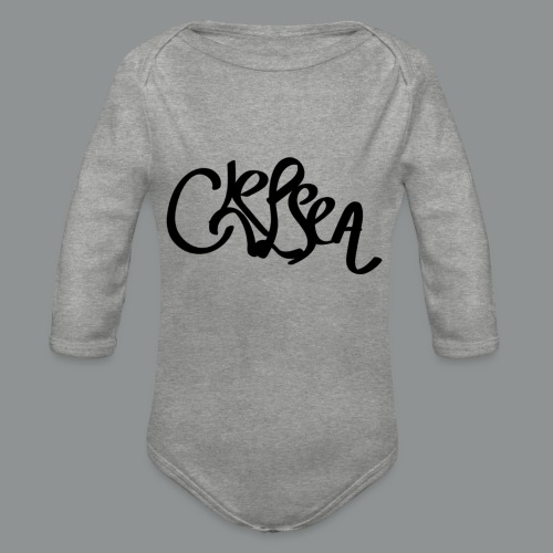 Vrouwen shirt (rug) - Baby bio-rompertje met lange mouwen
